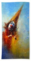 Clown Musician Beach Towel