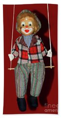 Beach Towel featuring the photograph Clown On Swing By Kaye Menner by Kaye Menner