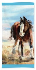 Clydesdale Foal Beach Towel