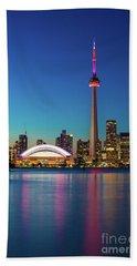 Cn Tower Rogers Centre Toronto  Beach Towel by Mariusz Czajkowski