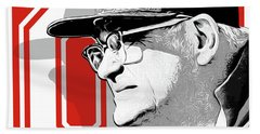 Coach Woody Hayes Beach Towel