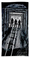 Coal Miners At Work Beach Sheet