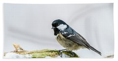 Beach Sheet featuring the photograph Coal Tit's Profile by Torbjorn Swenelius