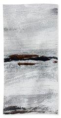 Coast # 10 Seascape Landscape Original Fine Art Acrylic On Canvas Beach Towel