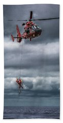 Coast Guard Rescue Operation  Beach Towel
