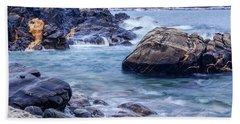 Coast Of Maine In Autumn Beach Towel