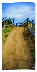 Beach Sheet featuring the photograph Coast Path by Perry Webster