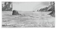 Coastal Beach Beach Towel