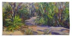 Coastal Bush  1770 Queensland Painting Beach Towel