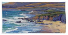 Coastal Cruising 8, San Simeon Beach Towel