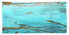 Coastal Escape I Textured Abstract Beach Towel