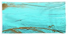 Coastal Escape II Textured Abstract Beach Towel