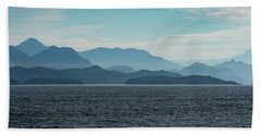 Coastal Mountains Beach Towel