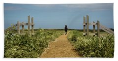 Beach Towel featuring the photograph Coastal Path by Nick Bywater