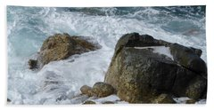 Coastal Rocks Trap Water Beach Towel