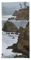Coastal Storm Beach Towel by Laddie Halupa