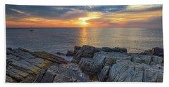 Coastal Sunrise On The Cliffs Beach Sheet