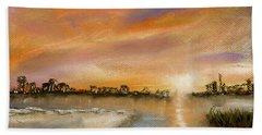 Coastal Sunset Beach Towel by Barry Jones