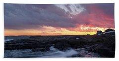 Coastal Sunset Cape Neddick - York Maine  -21056 Beach Towel