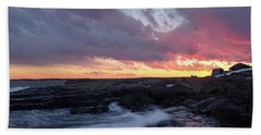 Coastal Sunset Cape Neddick - York Maine  -21056 Beach Sheet