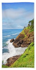 Coastal View From North Head Beach Towel