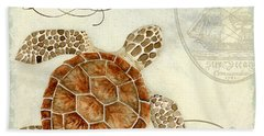 Coastal Waterways - Green Sea Turtle 2 Beach Towel