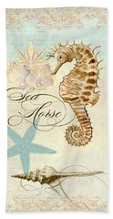 Coastal Waterways - Seahorse Rectangle 2 Beach Towel