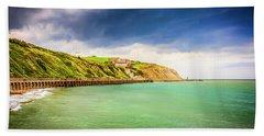 Coastline Of Kent Uk Beach Towel by Chris Smith
