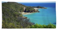 Coastline Views On Moreton Island Beach Towel
