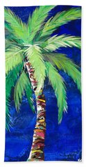 Cobalt Blue Palm II Beach Sheet by Kristen Abrahamson