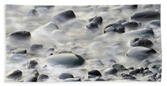 Cobbles In The Mist Beach Towel
