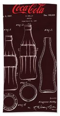 Coca Cola Bottle Design Beach Towel