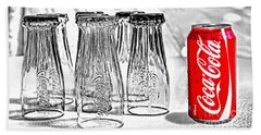 Coca-cola Ready To Drink By Kaye Menner Beach Sheet