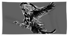 Cock Bw II Transparant Beach Towel