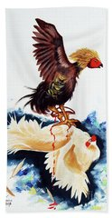 Cock Fighting Beach Towel