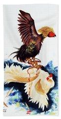 Cock Fighting Beach Towel