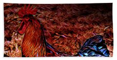Cock Rooster Beach Towel