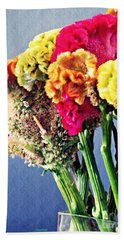 Beach Towel featuring the photograph Cockscomb Bouquet 2 by Sarah Loft