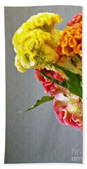 Beach Towel featuring the photograph Cockscomb Bouquet 4 by Sarah Loft