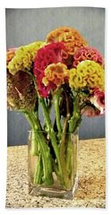 Beach Towel featuring the photograph Cockscomb Bouquet by Sarah Loft