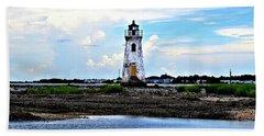 Beach Sheet featuring the photograph Cockspur Lighthouse by Tara Potts