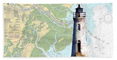 Cockspur On Navigation Chart Beach Towel