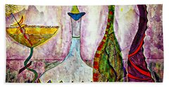 Cocktail And Wine Beach Towel