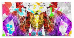 Coco Chanel Grunge 2 Beach Sheet