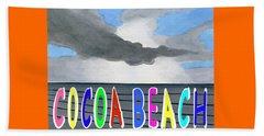 Cocoa Beach Poster T-shirt Beach Towel