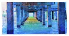 Cocoa Pier Beach Towel by Pamela Williams