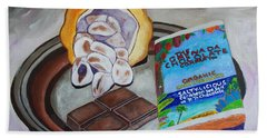 Cocoa Pod To Chocolate Bar Beach Towel