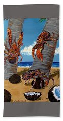 Coconut Crab Cluster Beach Towel