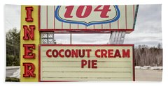 Coconut Cream Pie At The Route 104 Diner Beach Towel