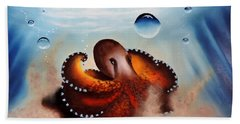 Coconut Octopus Beach Towel by Dianna Lewis